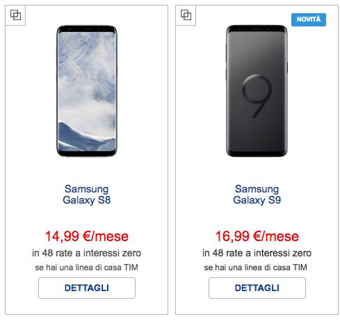 Schermata-2018-06-14-alle-17.09.43 Samsung S8 a rate vs S9: dove trovare il miglior prezzo